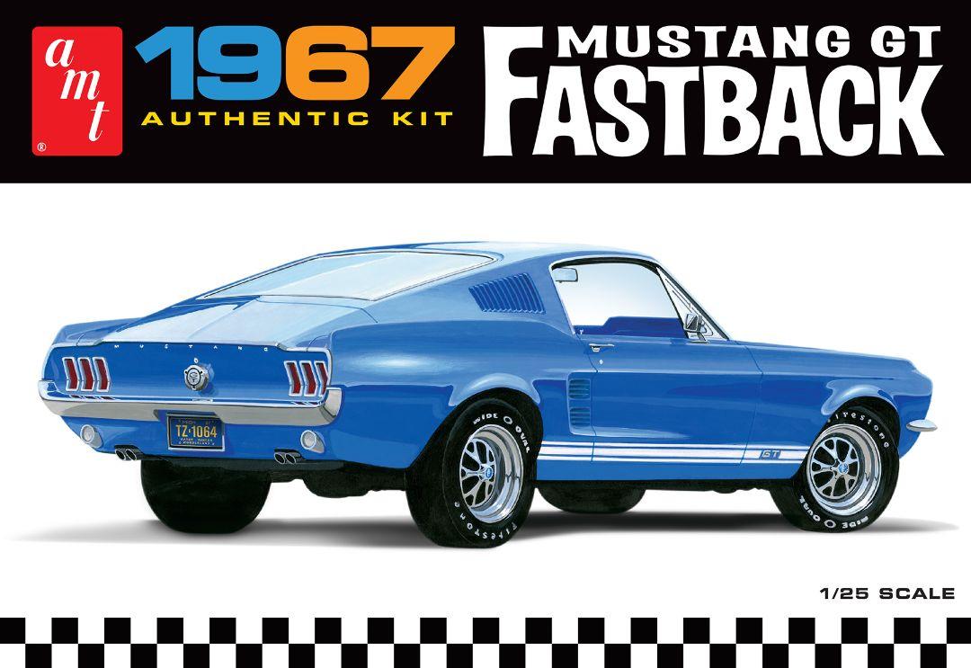 Amt 1967 Ford Mustang Gt Fastback 1 25 Model Kit Level 2