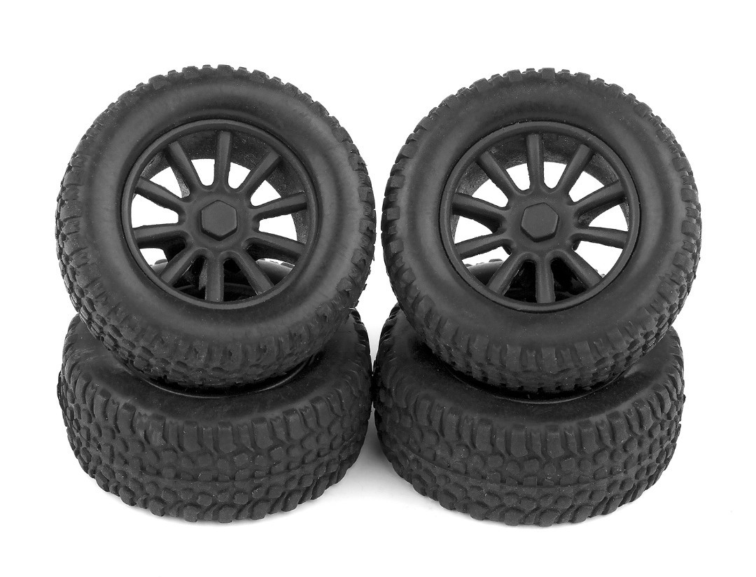 Team Associated SC28 Tires and Wheels (Mounted)(4)
