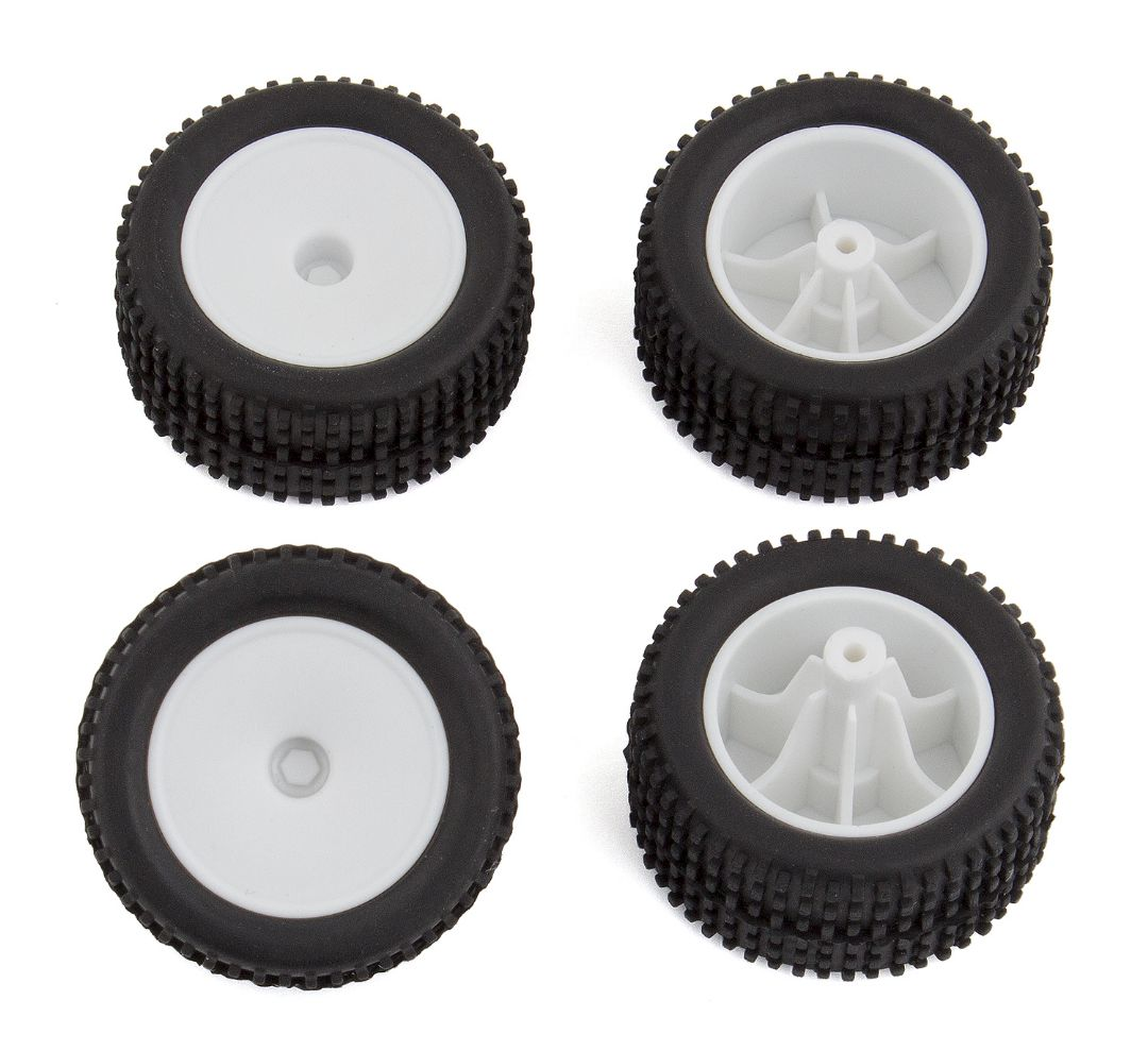 Team Associated RC28T Wheels and Tires, mounted
