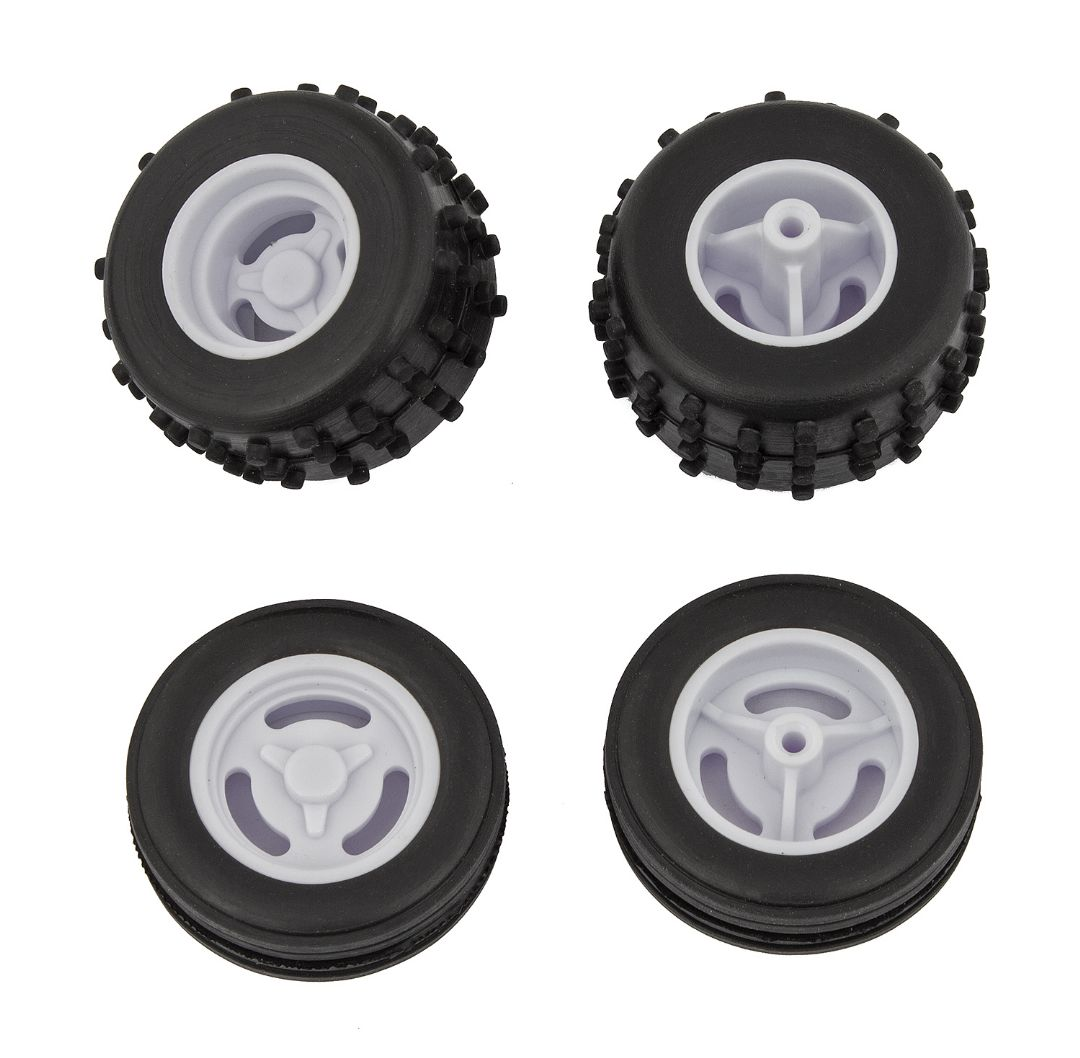 Team Associated RC28 Tires and Wheels, mounted