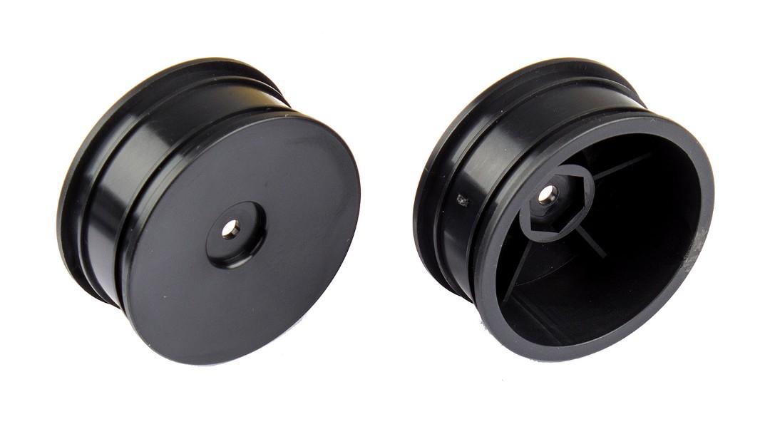 Team Associated Narrow Wheels, black, pair (Reflex 14B)