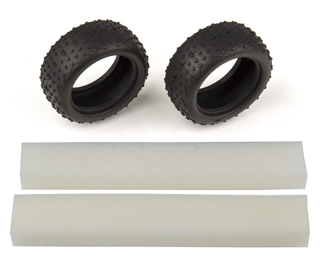 Team Associated Wide Mini Pin Tires, with inserts (Reflex 14B/14T)