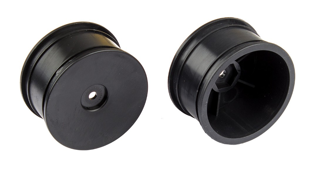Team Associated Wide Wheels, black, pair (Reflex 14B/14T)