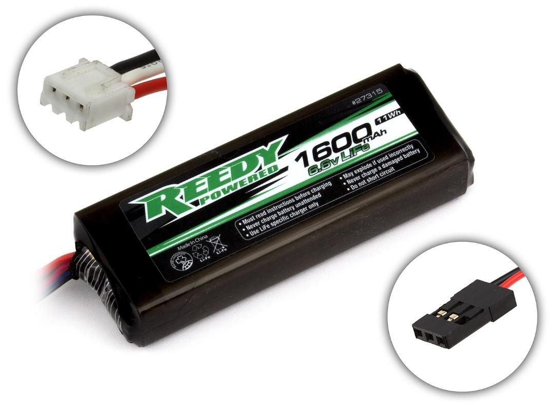 Reedy 1600mAh 2S 6.6V LiFe TX/RX Flat 84.5x29.8x16.5mm
