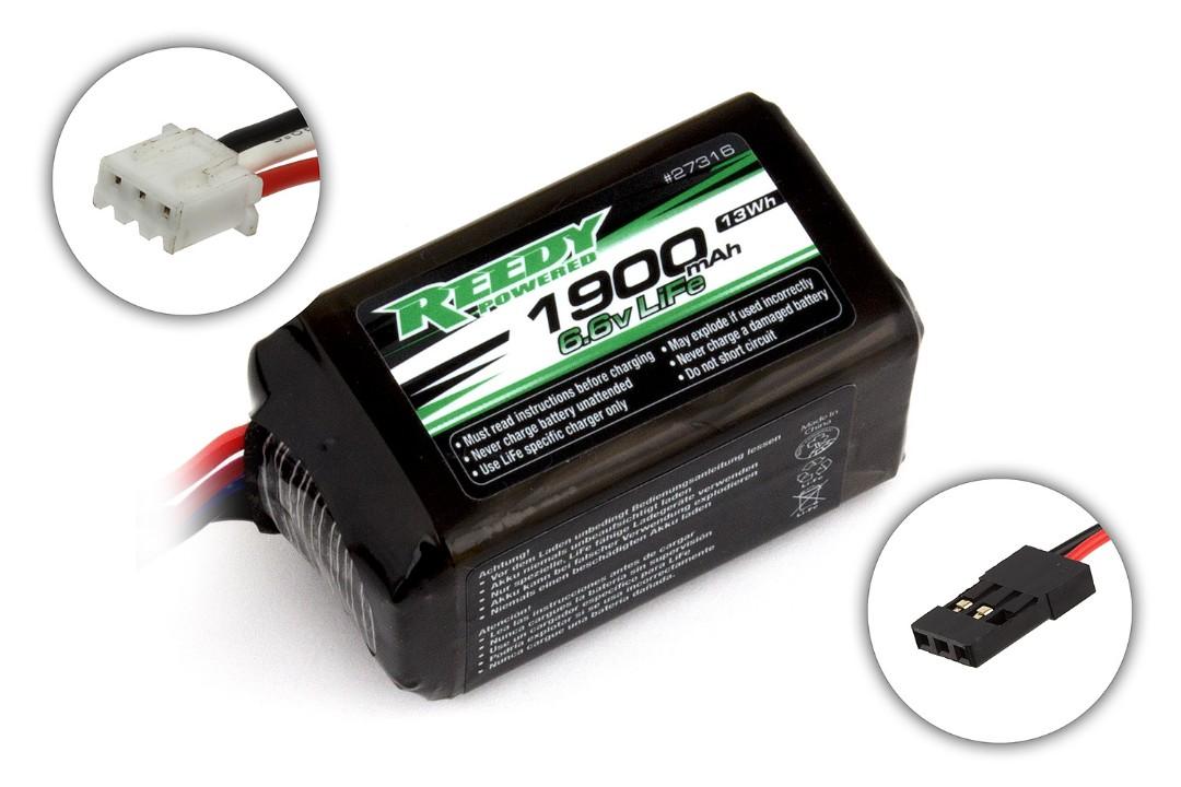 Reedy 1900mAh 2S 6.6V LiFe RX Hump 56.5x30.9x30.9mm