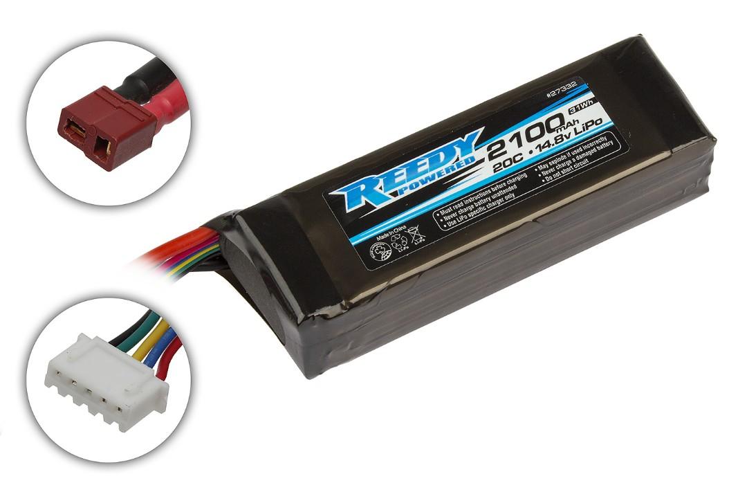 Reedy 2100mAh 20C 14.8V LiPo Pro SB 106.5x34.1x26.5