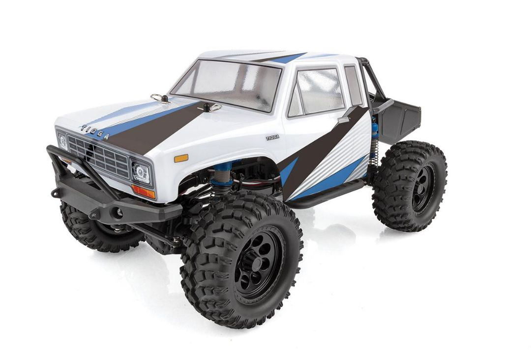 Team Associated CR12 Tioga Trail Truck RTR, white and blue