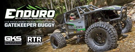 Element RC Enduro Gatekeeper Rock Crawler Buggy RTR LiPo Combo
