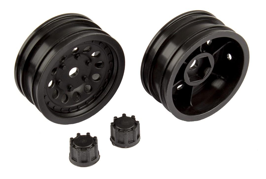 Team Associated CR12 Wheel Set, black