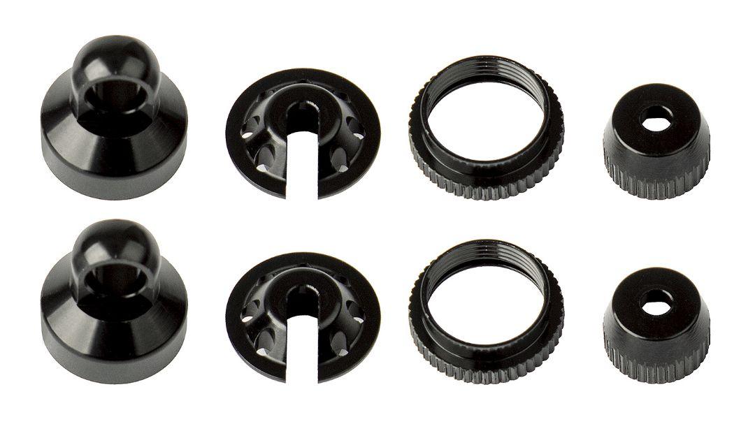 Element RC Enduro Shock Parts, black aluminum