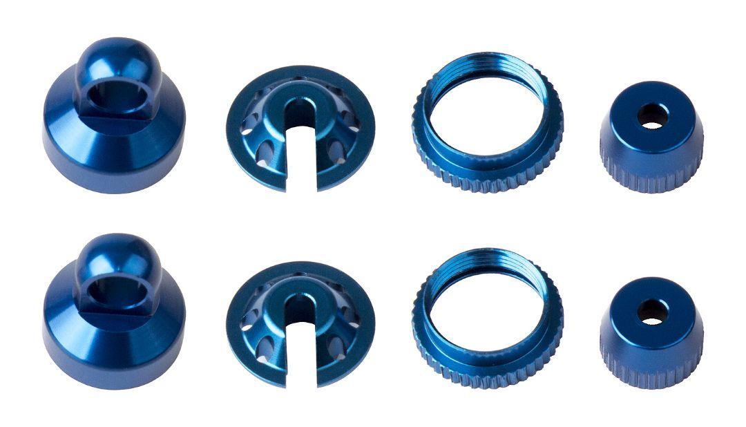 Element RC Enduro Shock Parts, blue aluminum
