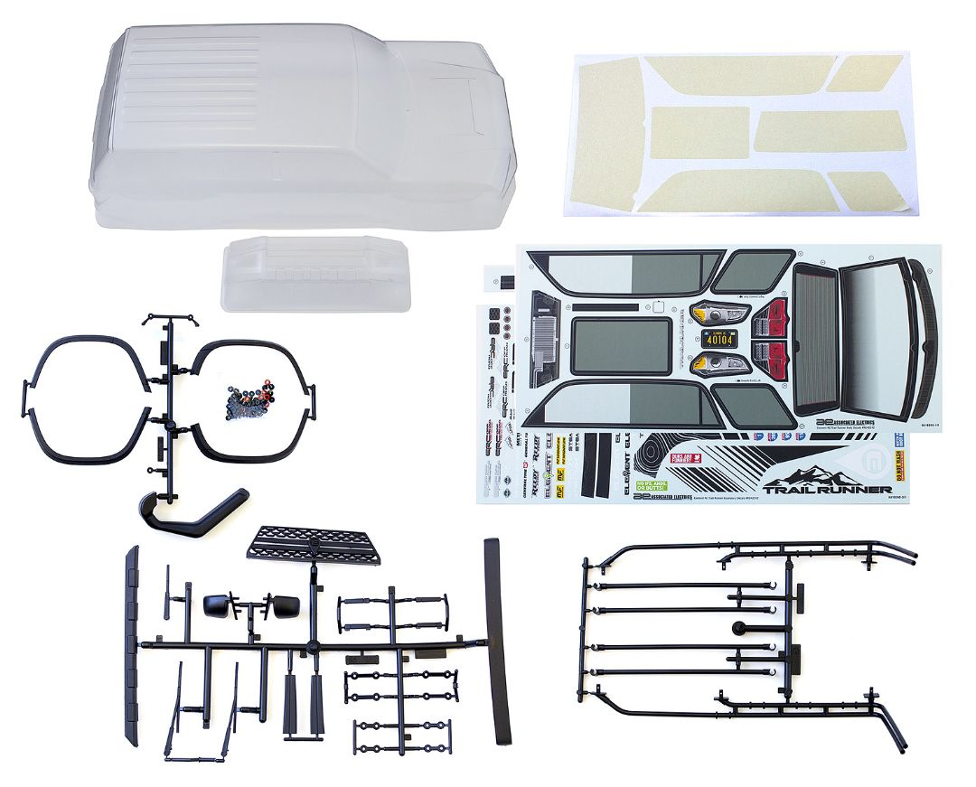 Element RC Trailrunner Body, clear, with accessories
