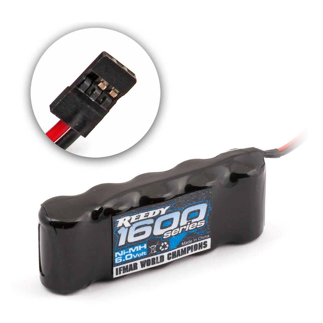 Reedy 1600 Series 1600mAh 6V NiMH Flat Receiver Pack