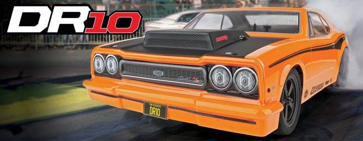 Team Associated DR10 Drag Race Car RTR LiPo Combo - Orange