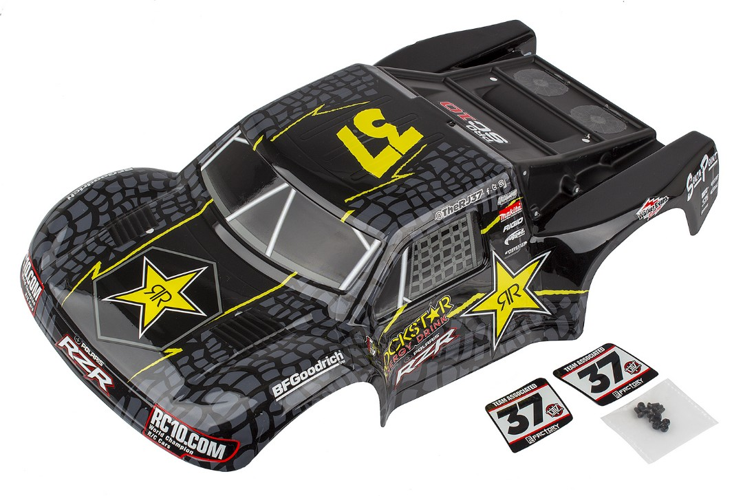 Team Associated ProSC10 Contender Body, RJ/Rockstar, painted