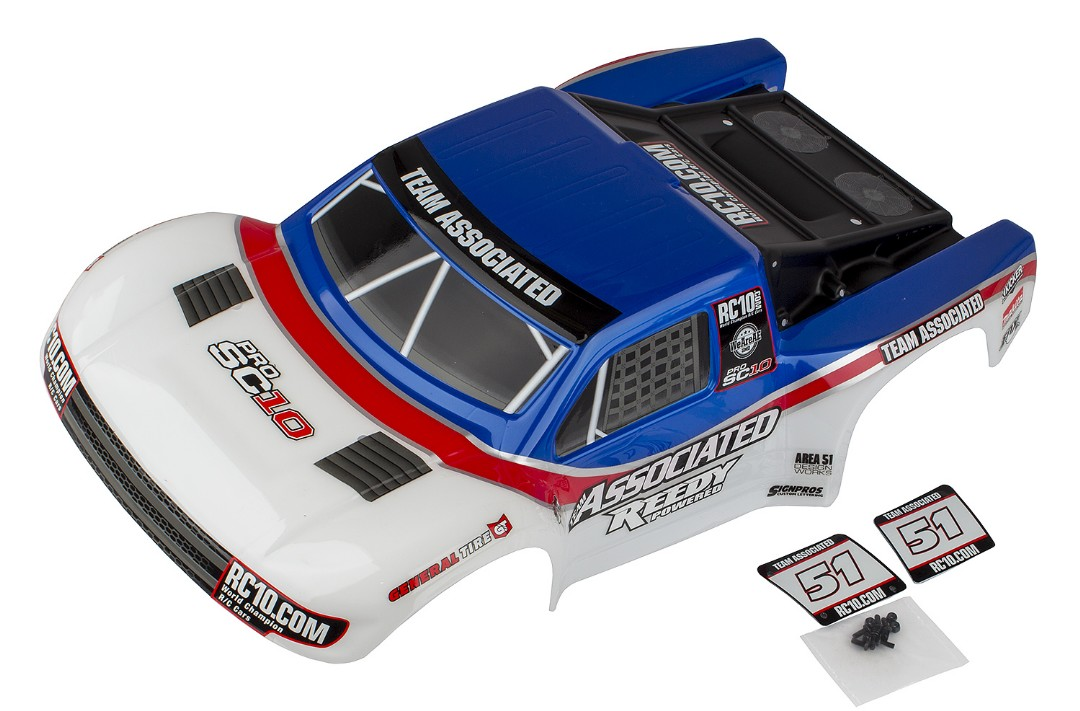 Team Associated ProSC10 Contender Body, AE Team, painted
