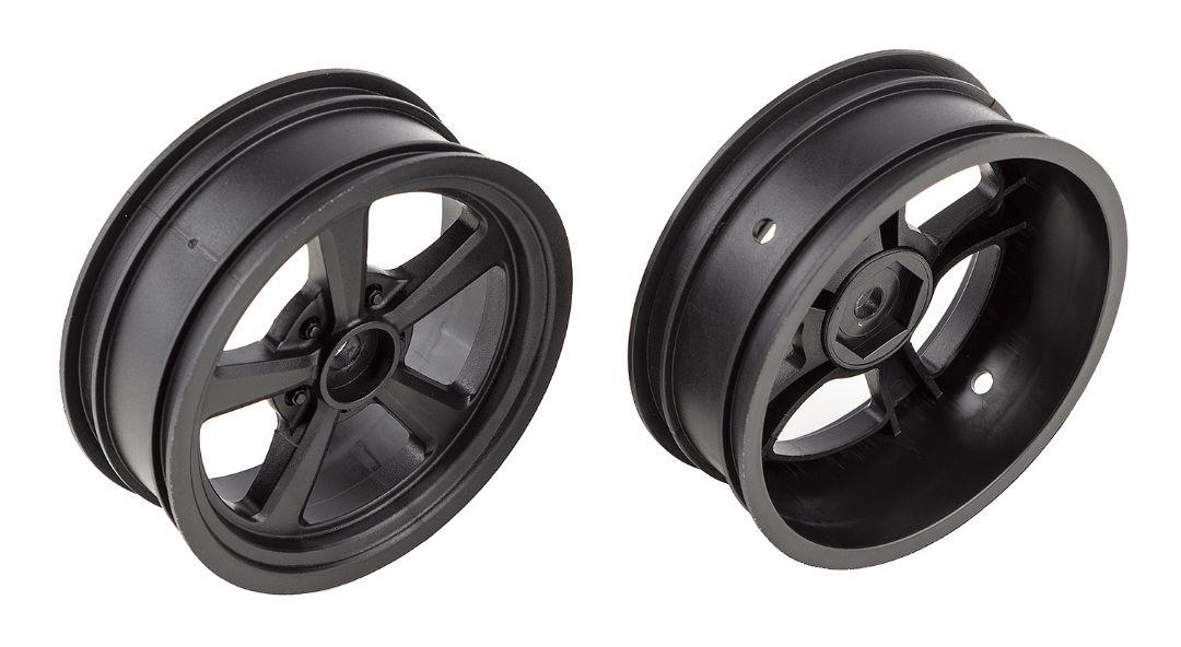 Team Associated DR10 Drag Front Wheels, black