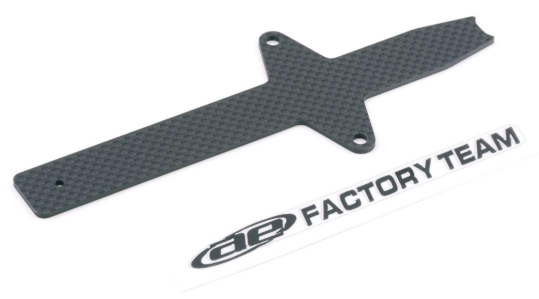 Team Associated Factory Team Woven Carbon Fiber Battery Strap, with sticker