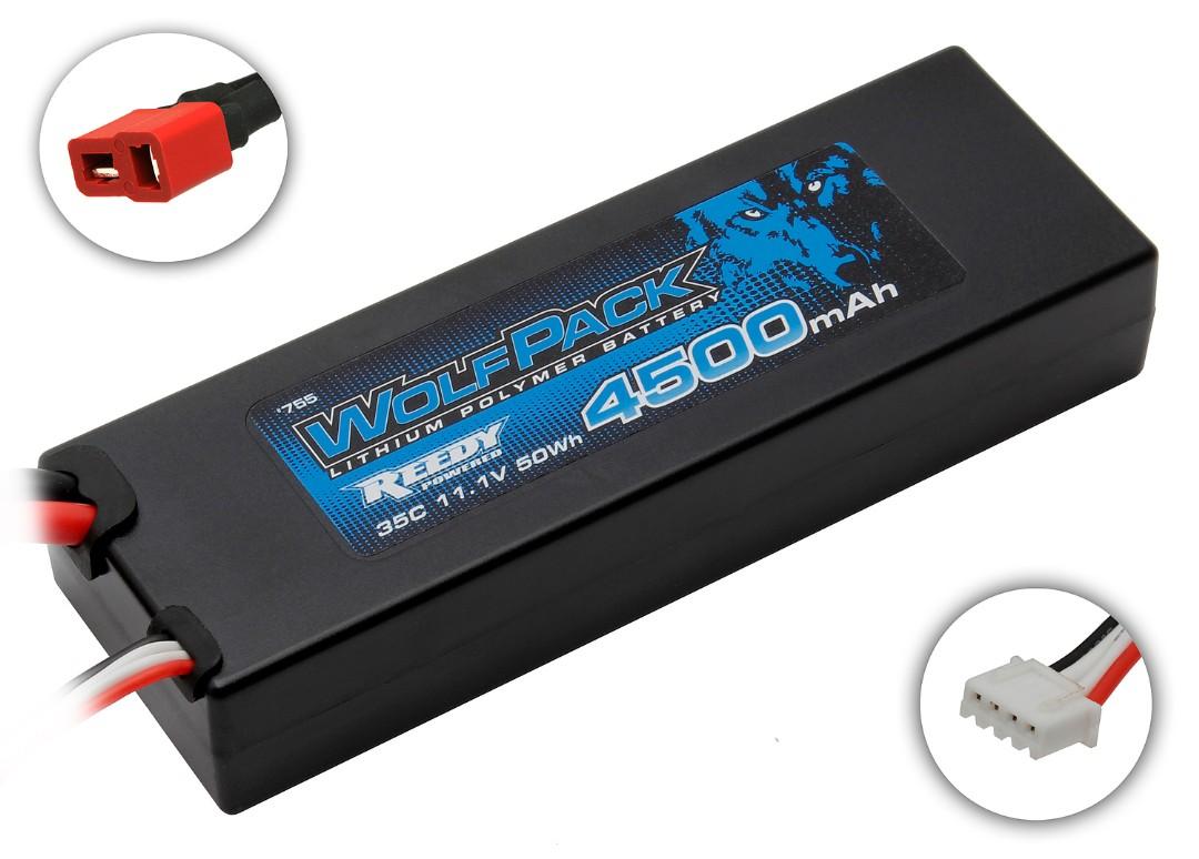 Reedy WolfPack Gen2 4500mAh 3S 11.1V 35C LiPo Deans Plug Hard Case 24.5x47x139mm