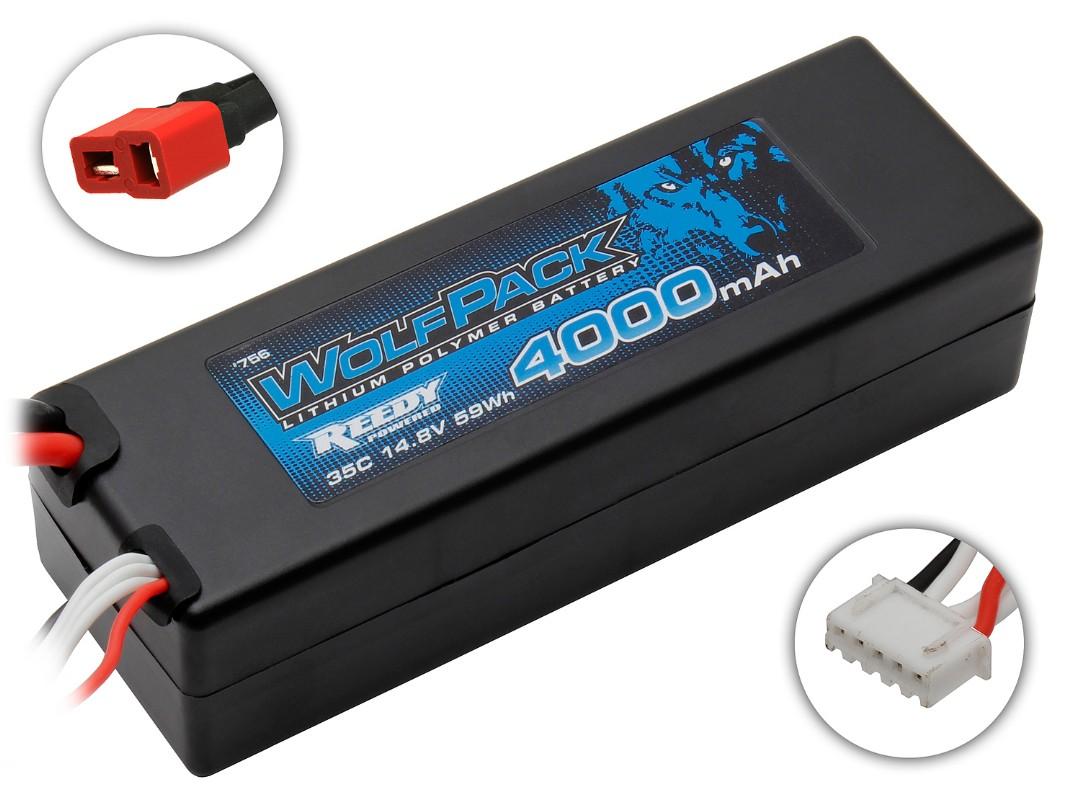 Reedy WolfPack Gen2 4000mAh 4S 14.8V 35C LiPo Deans Plug Hard Case 37x47x139mm