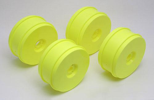 Team Associated 83mm 1/8 Buggy Wheels (4) (Yellow)