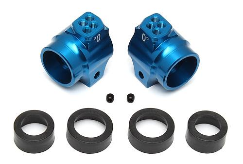 Team Associated B5/B5M/T5m/SC5m Aluminum Rear Hub Set (Blue)