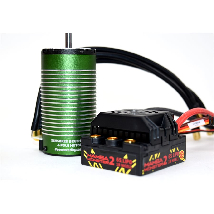 Castle Monster 2 1/8th 25V ESC Waterproof W/ 2200kv Sensored Motor