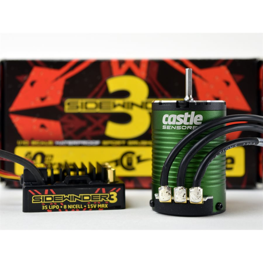 Castle Creations SV3 Waterproof 1/10TH 12V ESC 1406-4600 Sensored Combo