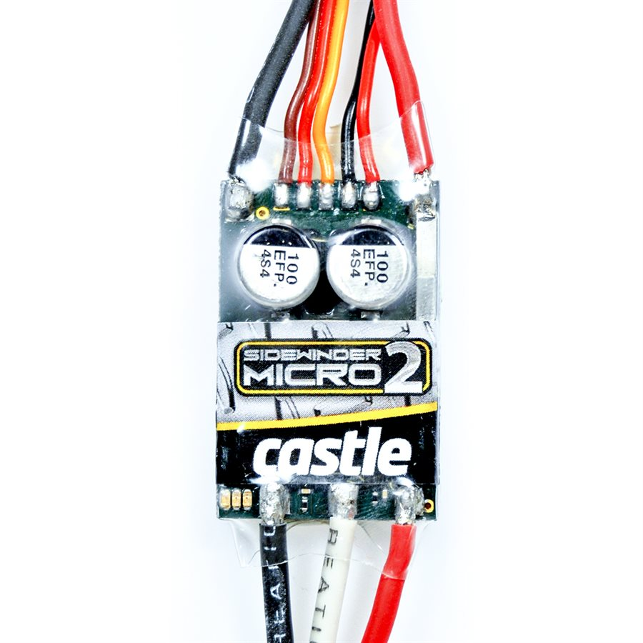 Castle Creations Mamba Micro X 12.6V ESC, 2A Peak BEC w/ 0808-8200KV Motor
