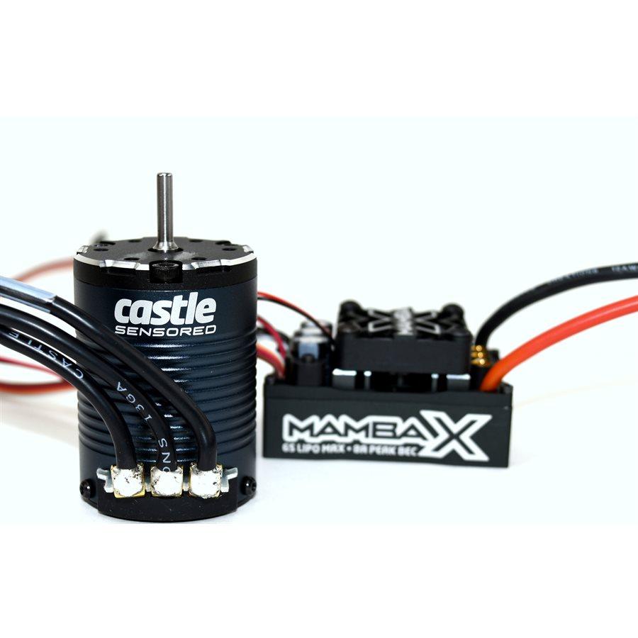 Castle Creations Mamba X, 25.2v WP ESC And 1406-1900KV Sensored Crawler Combo 1/8