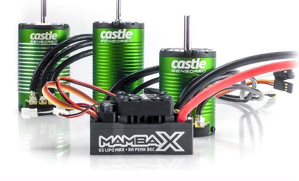 Castle Creations Mamba X SCT Pro, Sensored, 25.2V WP ESC and 1410-3800KV 5mm Combo