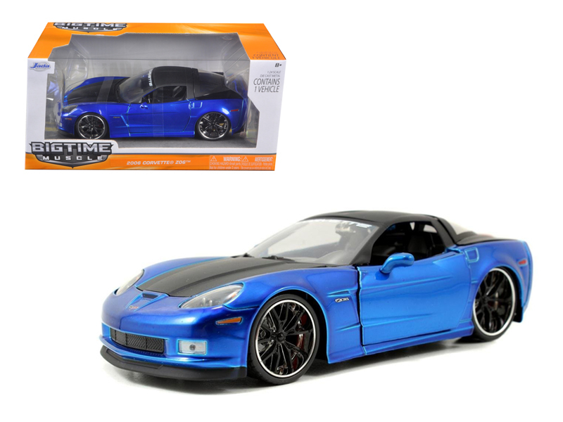 "Damaged Box- Jada 1/24 ""BIGTIME Muscle"" 2006 Corvette Z06 - Blue"