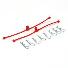 Du-Bro Body Klip Retainers (Red) 2/pkg.