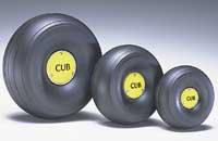 Du-Bro 1/5 Scale Trded Lightweight J-3 Cub Wheels (3-3/8