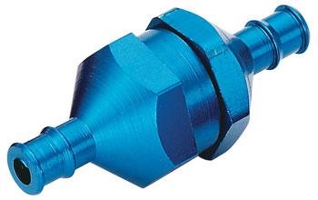 Du-Bro In Line Fuel Filter w/Plug (Blue) (1/pkg)