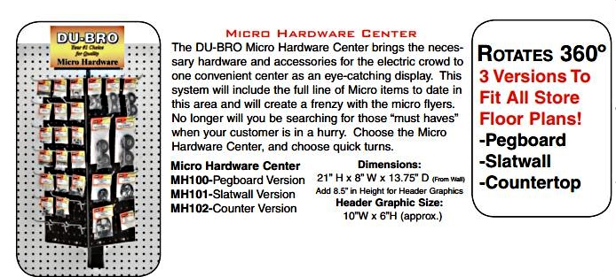 Du-Bro Micro Hardware Center w/Merchandise (Pegboard)