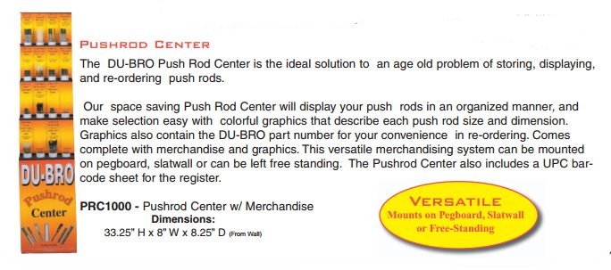 Du-Bro Pushrod Center with Merchandise