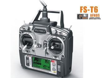 Flysky T6 2.4Ghz 6 Channel Dual Stick Radio with LCD