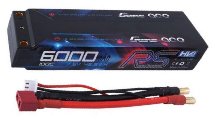 Gens Ace - 368 - 6000mAh 2S1P 7.6v 100C LiPo Hard Case 140x47x22.5mm