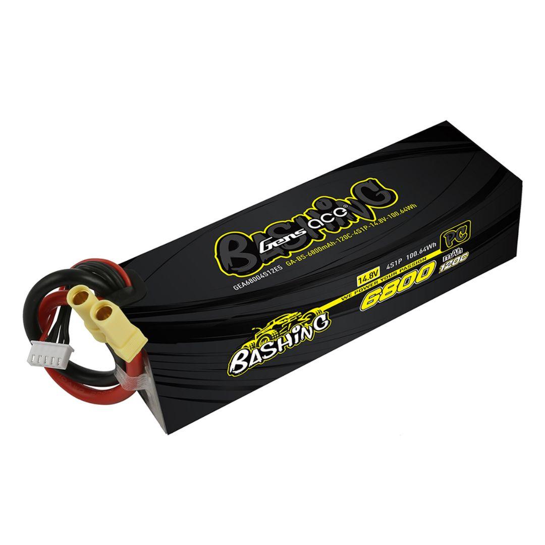 Gens Ace - 1030 - 6800mAh 4S1P 14.8v 120C LiPo EC5 Plug Hard Case 157x48x41mm