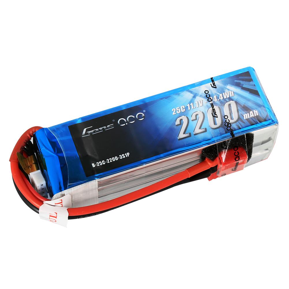 Gens Ace - 010 - 2200mAh 3S1P 11.1V 25C LiPo Deans Plug Soft Case 106x34x26mm