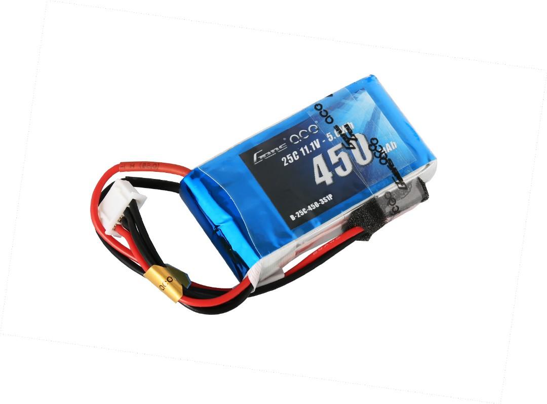 Gens Ace - 005 - 450mAh 3S1P 11.1V 25C LiPo JST Plug Soft Case 56x31x15mm