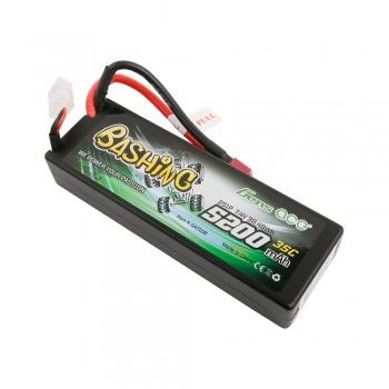 Gens Ace - 710 - 5200mAh 7.4V 35C 2S1P Hard Case Lipo Battery Pack with Deans 138x46x25mm