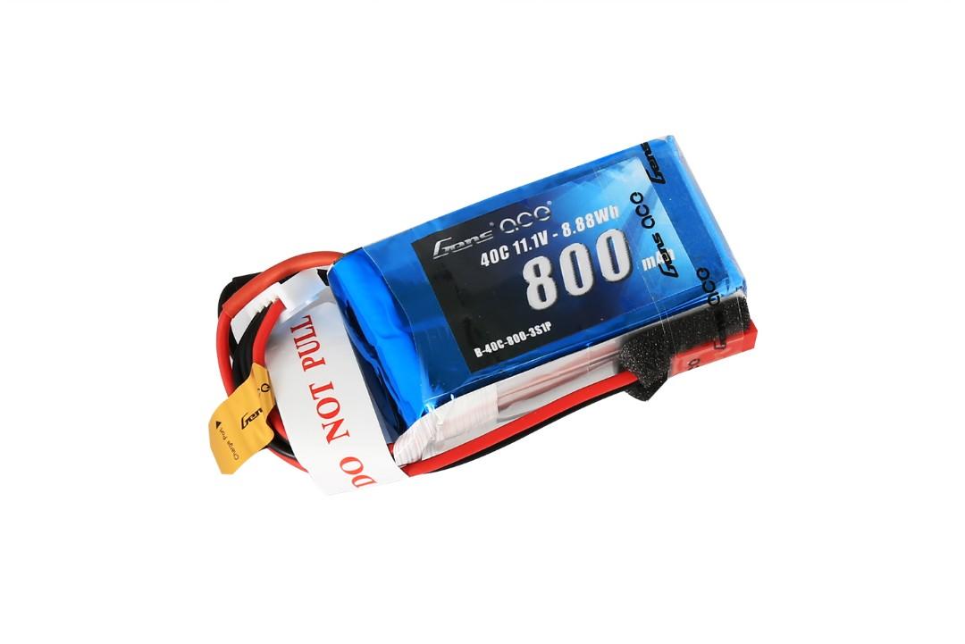 Gens Ace - 006 - 800mAh 3S1P 11.1V 40C LiPo JST Plug Soft Case 52x30x23mm