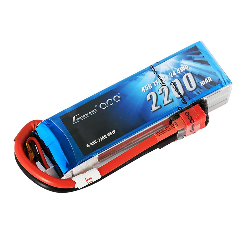 Gens Ace - 012 - 2200mAh 3S1P 11.1V 45C LiPo Deans Plug Soft Case 106x34x26mm