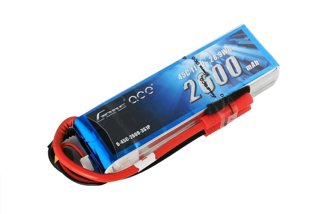 Gens Ace - 013 - 2600mAh 3S1P 11.1V 45C LiPo Deans Plug Soft Case 125x38x23mm