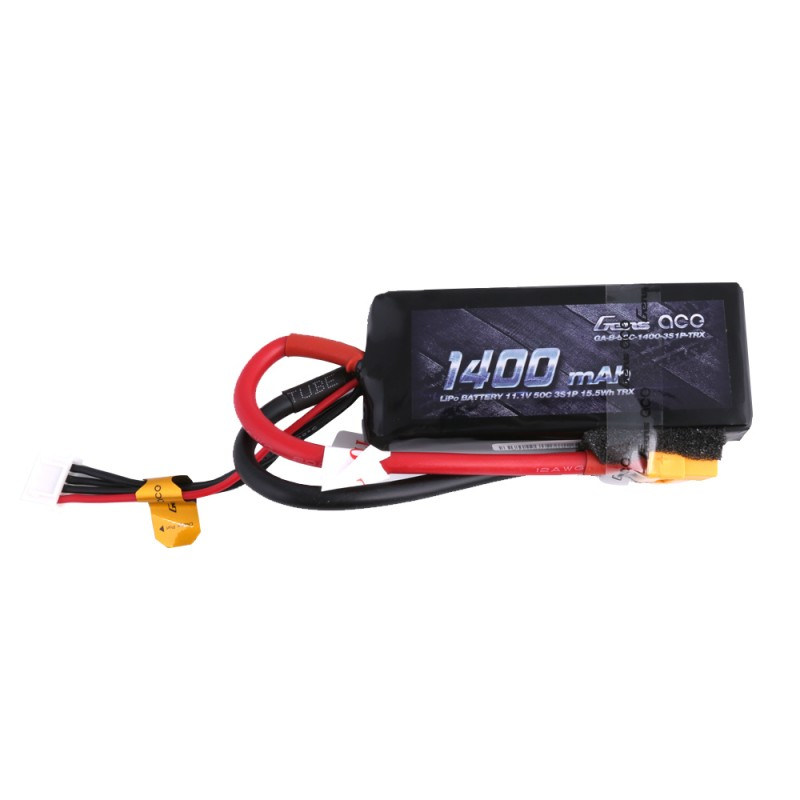 Gens Ace - 195 - 1400mAh 3S1P 11.1v 50C LiPo XT60 Plug Soft Case 85x35x19.5mm