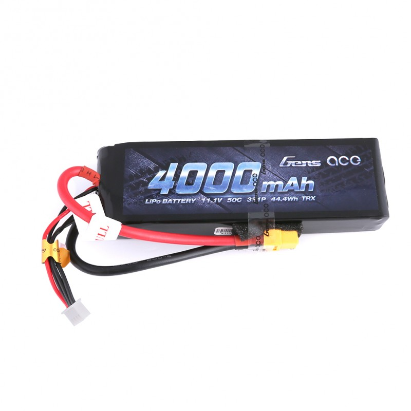 Gens Ace - 266 - 4000mAh 3S1P 11.1V 50C LiPo XT60 Plug Soft Case 139x43x25mm