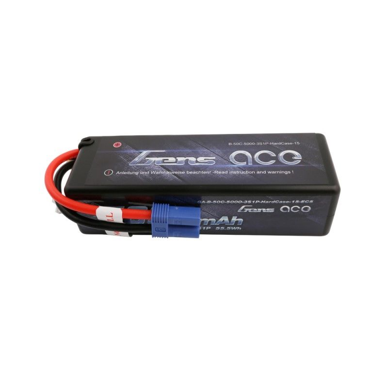 Gens Ace 5000mAh 50C 3S1P Hard Case 11.1V LiPo Battery