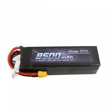 Gens Ace 14.8V 50C 4S 8500mAh Lipo Battery Pack with XT60 Plug